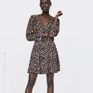 NWT Zara Animal Print dress
